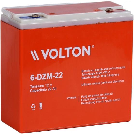 Acumulator stationar plumb acid VOLTON 12V 22Ah AGM VRLA Deep Cycle [0]