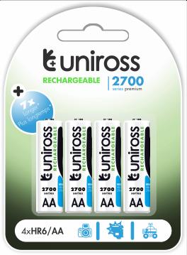 Acumulatori AA R6 2700mAh UNIROSS [0]