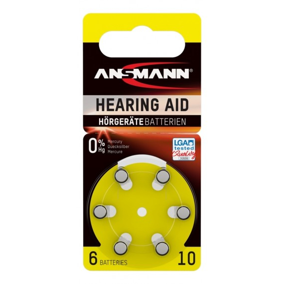 Baterie acustica Ansmann AZA10 PR70 blister, 6 buc [0]