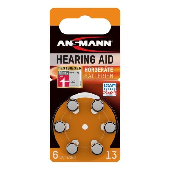 Baterie acustica Ansmann AZA13 PR48 blister, 6 buc [0]