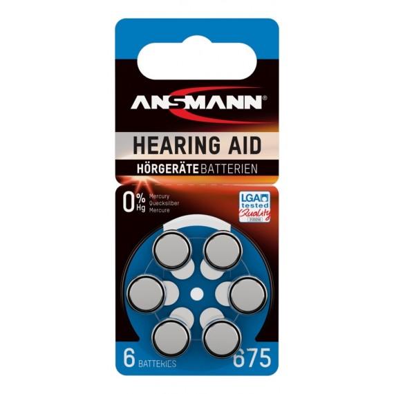 Baterie acustica Ansmann AZA675 PR44 blister, 6 buc [0]