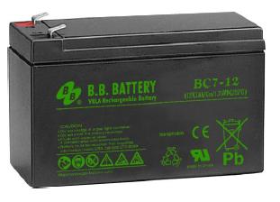 Acumulator stationar plumb acid BB BATTERY 12V 7Ah T2 AGM VRLA [0]