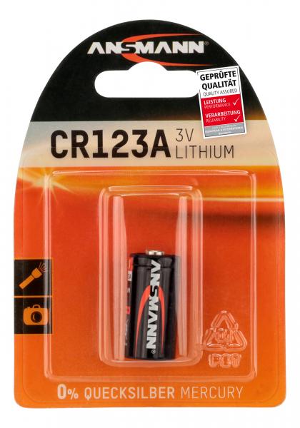 Baterie litiu CR123A ANSMANN [0]