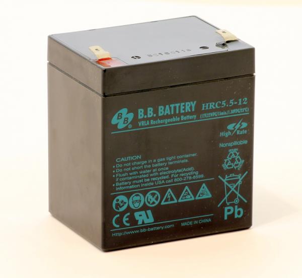 Acumulator stationar plumb acid BB BATTERY 12V 5.5Ah T2 AGM VRLA High Rate [0]