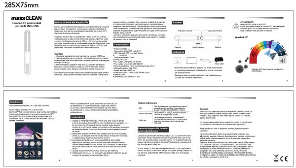 Lampa Germicidala Portabila UV 2W 120LM 5V [5]