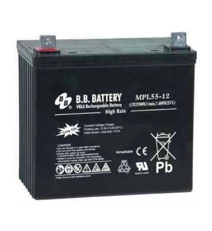 Acumulator stationar plumb acid BB BATTERY 12V 55Ah AGM VRLA High Rate / Longlife [0]