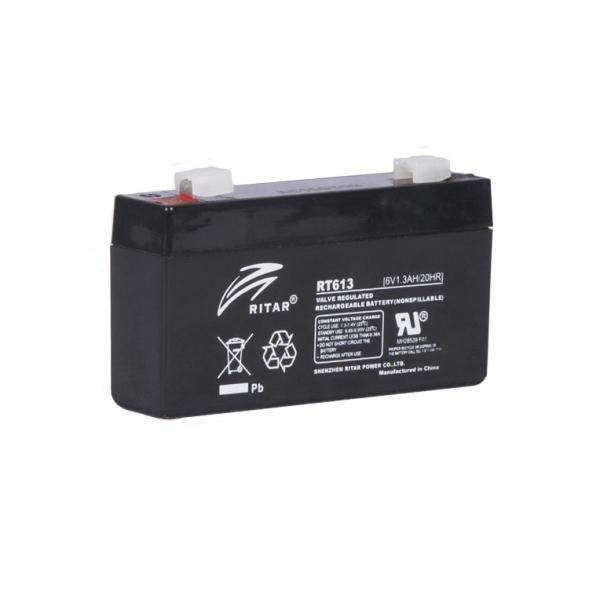 Acumulator stationar plumb acid RITAR 6V 1.3Ah AGM VRLA [0]