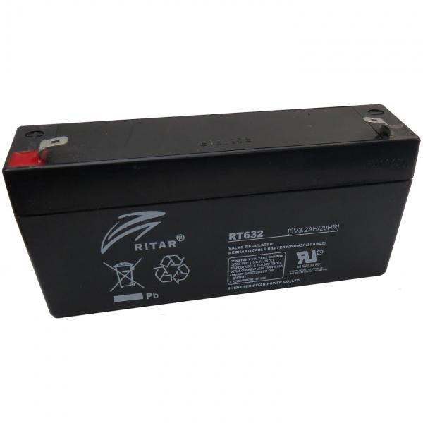 Acumulator stationar plumb acid RITAR 6V 3.2Ah AGM VRLA [0]