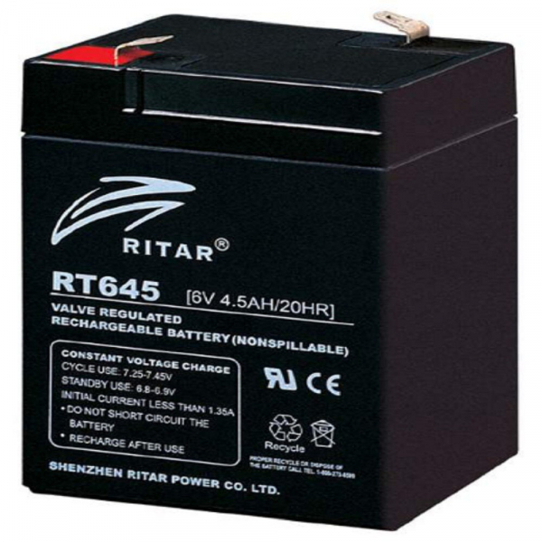 Acumulator stationar plumb acid RITAR 6V 4.5Ah AGM VRLA [0]
