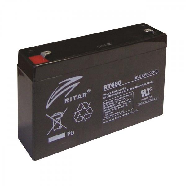 Acumulator stationar plumb acid RITAR 6V 8Ah AGM VRLA [0]