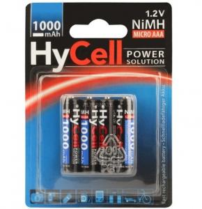 Acumulatori AAA R3 1000mAh blister 4 bucati HYCELL [0]