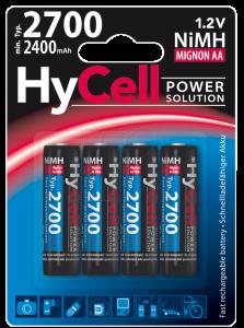 Acumulatori AA R6 2700mAh blister 4 bucati HYCELL [0]