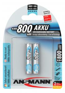 Acumulatori preincarcati AAA R3 800mAh blister 2 bucati ANSMANN [0]