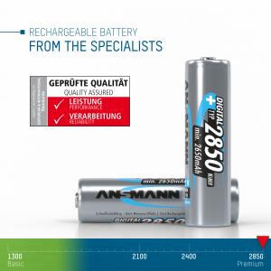 Acumulatori AA R6 2850mAh blister 2 bucati ANSMANN [3]