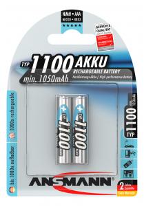 Acumulatori AAA R3 1100mAh blister 2 bucati ANSMANN [0]