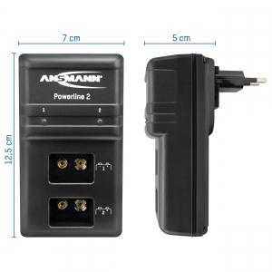 Incarcator Powerline 2 pentru 1-2 acumulatori 9V ANSMANN [1]