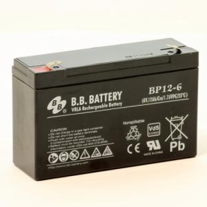 Acumulator stationar plumb acid BB BATTERY 6V 12Ah AGM VRLA [1]