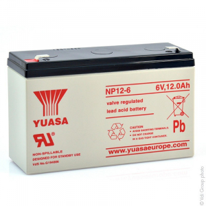 Acumulator stationar plumb acid YUASA 6V 12Ah AGM VRLA [1]