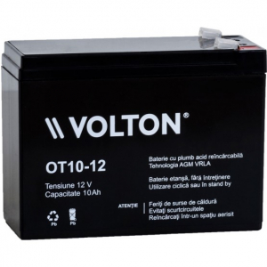 Acumulator stationar plumb acid VOLTON 12V 10Ah AGM VRLA [0]
