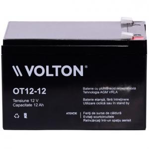 Acumulator stationar plumb acid VOLTON 12V 12Ah AGM VRLA [1]