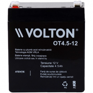 Acumulator stationar plumb acid VOLTON 12V 4.5Ah AGM VRLA [1]
