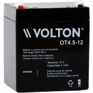 Acumulator stationar plumb acid VOLTON 12V 4.5Ah AGM VRLA [0]