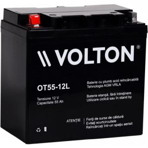 Acumulator stationar plumb acid VOLTON 12V 55Ah AGM VRLA [0]