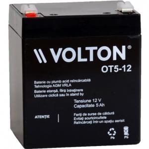 Acumulator stationar plumb acid VOLTON 12V 5Ah AGM VRLA [0]