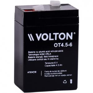 Acumulator stationar plumb acid VOLTON 6V 4.5Ah AGM VRLA [0]