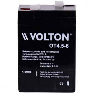 Acumulator stationar plumb acid VOLTON 6V 4.5Ah AGM VRLA [1]