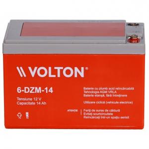 Acumulator stationar plumb acid VOLTON 12V 14Ah AGM VRLA Deep Cycle [1]