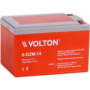 Acumulator stationar plumb acid VOLTON 12V 14Ah AGM VRLA Deep Cycle [0]