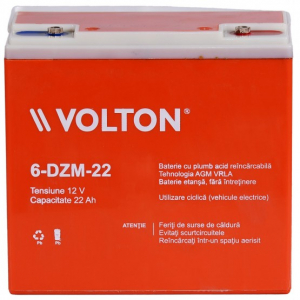 Acumulator stationar plumb acid VOLTON 12V 22Ah AGM VRLA Deep Cycle [1]