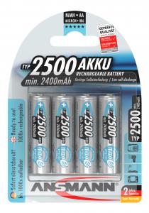 Acumulatori preincarcati AA R6 2500mAh blister 4 bucati ANSMANN [0]