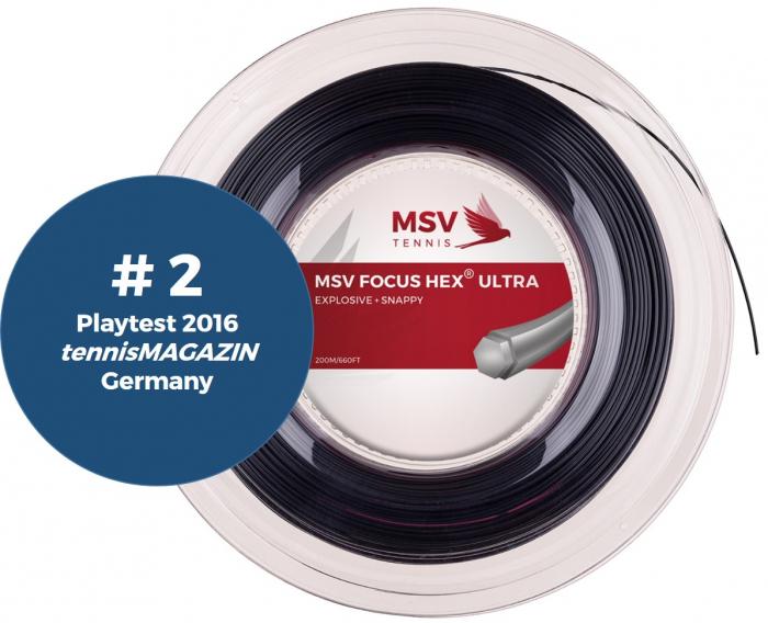 Racordaj MSV Focus Hex Ultra 200m Negru 0