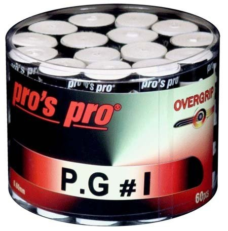 Overgrip-uri Pro's Pro P.G.3, 60 buc, Albe [0]