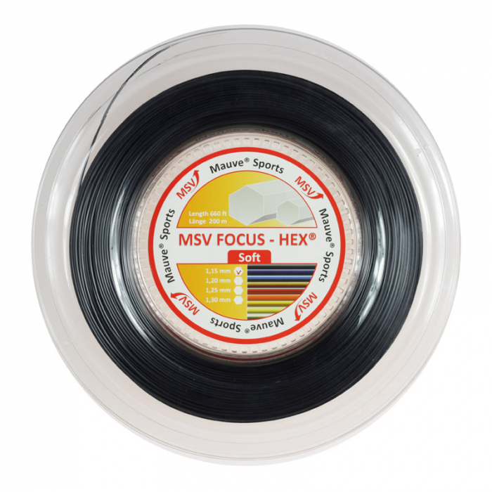Racordaj MSV Focus Hex Soft 200m - 1.20mm Negru 0