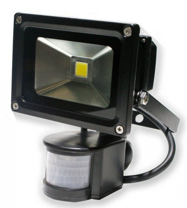 PROIECTOR LED 10W 12V IP65 - SENZOR DE MISCARE-big