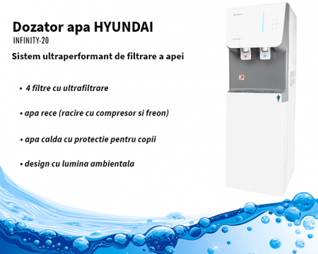 Purificator apa cu sistem de filtrare Hyundai Waco Gri4