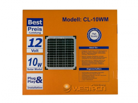 Panou solar fotovoltaic 10W monocristalin2