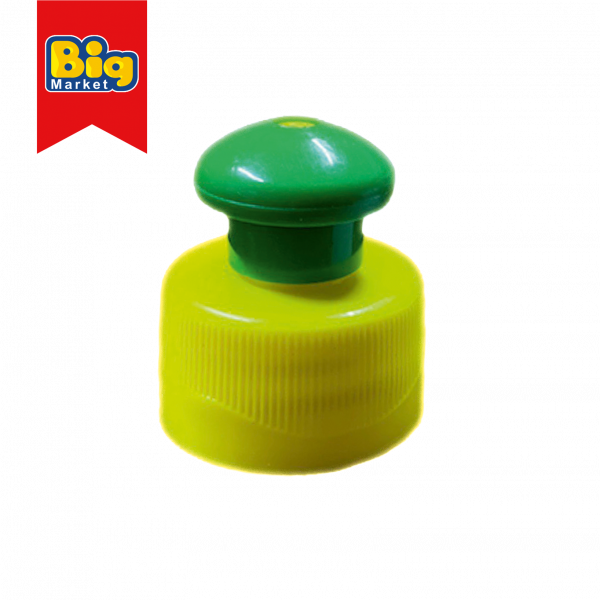 Capac Push Pull filet 28mm verde si galben 28/410 0