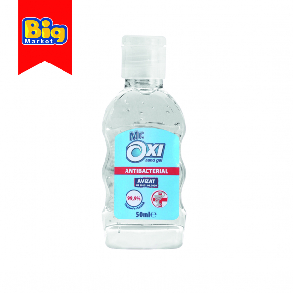 Gel antibacterian pentru maini, dezinfectant Mr Oxi - 50 ml 0