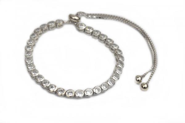 Bratara argint rodiat cu zirconiu - DA164