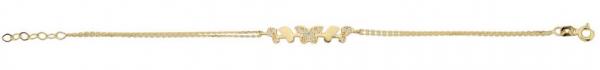 Bratara aur galben fluturas cu zirconia - DA390 0