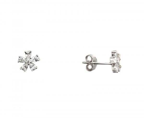 Cercei argint floricele - DA94 0