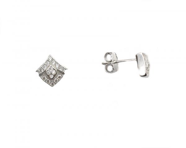 Cercei argint rodiat cu surub - DA134 0