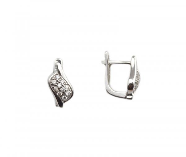 Cercei argint rodiat cu zirconia - DA207 0