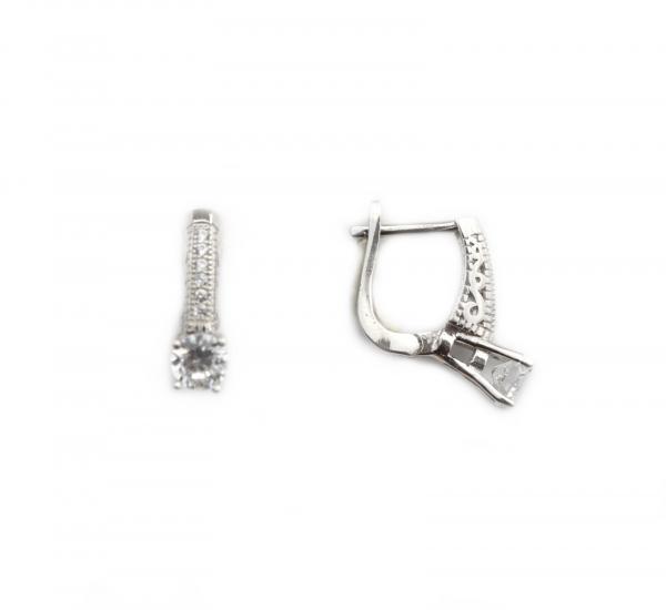 Cercei argint rodiat cu zirconia - DA208 0