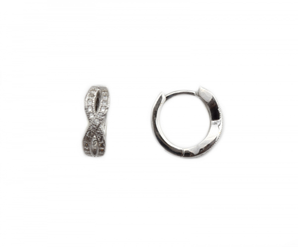 Cercei argint rodiat cu zirconia - DA211 0