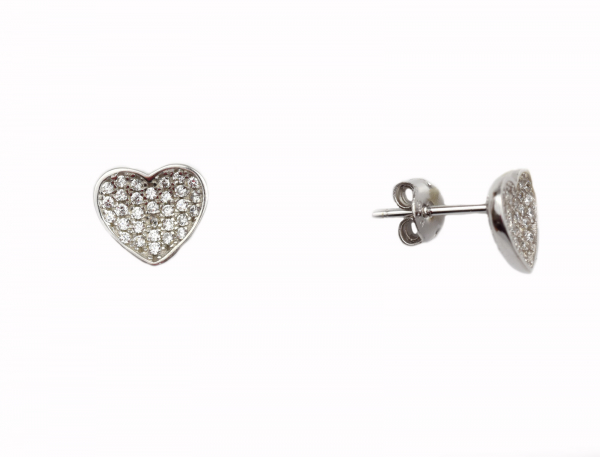 Cercei argint rodiat inimioare - DA127 0